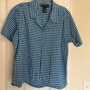 Denim & Company Short Sleeve button down top